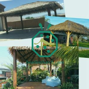 Synthetic palapa thatch roof