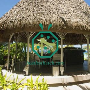 Imitation tiki hut thatching palm roofing