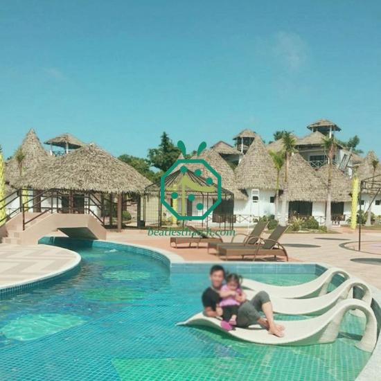 Synthetic palapa thatched roof UK