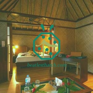 Safari Resort Hotel Bedroom Bamboo Woven Ceiling Decoration