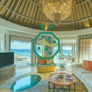 Water Villa Living Room Artificial Bamboo Woven Ceiling Mat