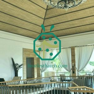 Faux Woven Bamboo Mat For Hotel Villa Interior Ceiling Decoration