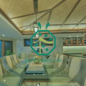 Kitchen Artificial Woven Bamboo Ceiling Architectural Design