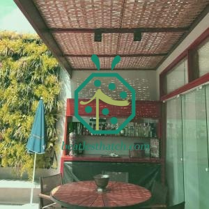 Beverage Shop Pergola Resin Wicker Ceiling Lining Sheet For Tropical Decoration