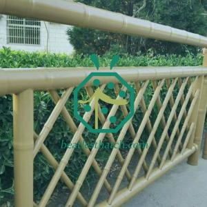 Outdoor Backyard Garden Stainless Steel Bamboo Sticks Fence Screen Panel