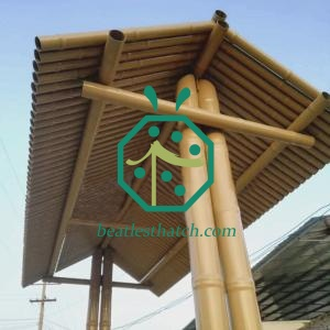Iron Bamboo Sticks Roof For Project Construction