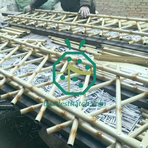 Tropical Looking Iron Bamboo Tubes For Backyard Garden Fencing Screen Decoration