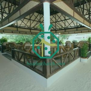 Maldives Hotel Lobby Artificial Bamboo Woven Ceiling Mat