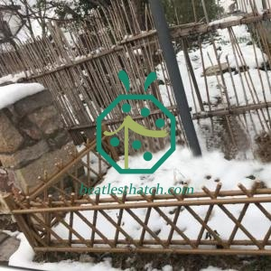 Various Height Iron Bamboo Pole Fencing For Public Garden