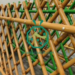 Decorative Steel Bamboo Screen Pole For Home Backyard Garden Decoration