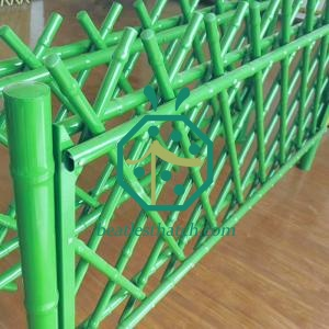 Green Iron Bamboo Poles for Garden Landscape Fencing