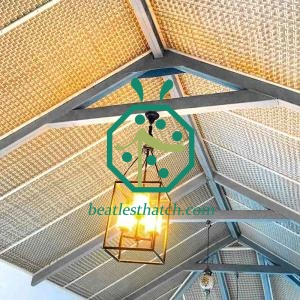 Fireproof woven bamboo ceiling panels China