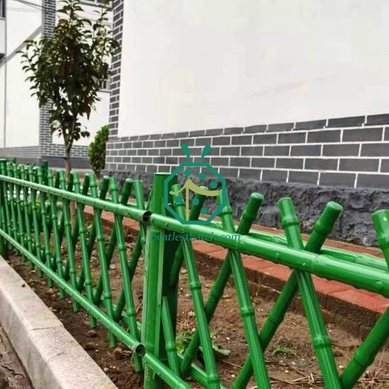 Metal Imitation Bamboo Stick Fence For Farm House Decoration