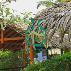 Pavilion Synthetic Palm Thatch Roof System With Ridge/Valley/Top Cap Tile