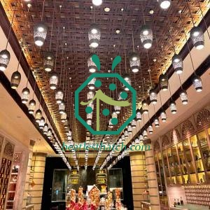 Hotel Lobby Wall And Ceiling Decoration Synthetic Cane Weaving Sheet