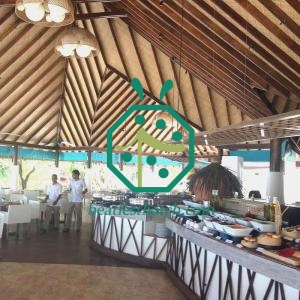 Resort Hotel Restaurant Plastic Bamboo Woven Ceiling Lining Material Maldives