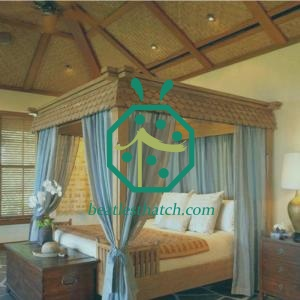 Home Interior Design Woven Palm Leaf Ceiling and Wall Decoration Mats