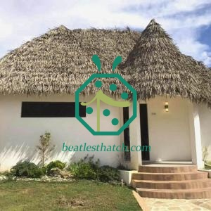Durable UV-Proof Synthetic Thatch Roof For Pacific Countries