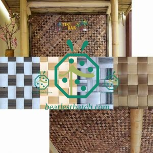 Home Interior Wall and Ceiling Design Synthetic Lauhala Bac Bac Matting