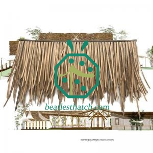 Bahrain Tropical Park Gazebo Construction Fire Retardant Plastic Thatch Materials