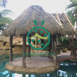 Fireproof Plastic Palm Tree Thatch Roof Panel Martinique For Bohio
