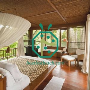 Luxury Hotel Palapa Guest Room Plastic Wicker Weavemat Interior Decoration