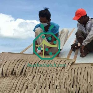 Palapa Thatched Roofing Materials For Residential Villa House Grenada