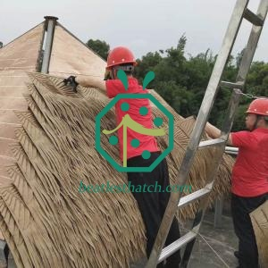 Tiki Hut Artificial Palm Roof Material For Backyard Garden Patio Construction