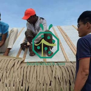 Bahay kubo palm thatch panel