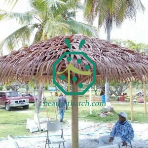 Artificial Tiki Bar Palm Thatch Roof For Park Sunshade Shed Building