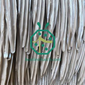 Artificial palm leaf thatch panels