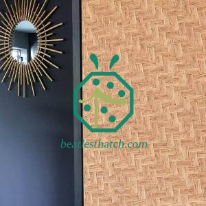 Artificial Bamboo Weave Panel For Tropical Style Wall Decoration