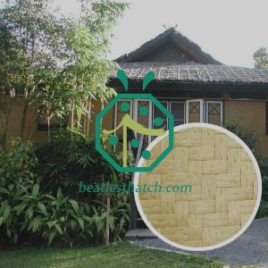 Resort Overwater Bungalow Guestroom Artificial Bamboo Wall Mat