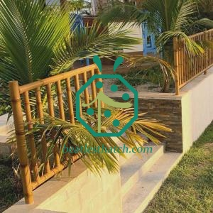 Modern Metal Bamboo Pole Fencing for Patio Landscape Design and Decoration