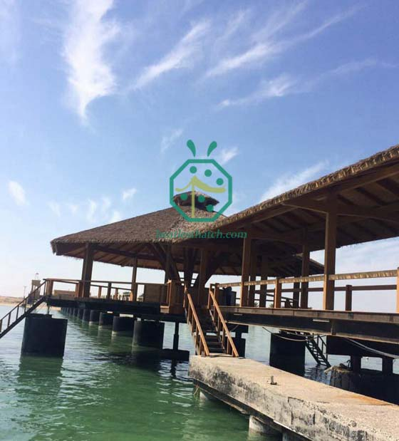 Qatar Thatched Roofing Project for Waterfront Park