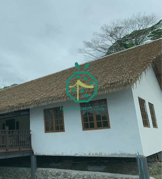 Synthetic Palm Leaf Roofing For Marine Park In Pacific Countries