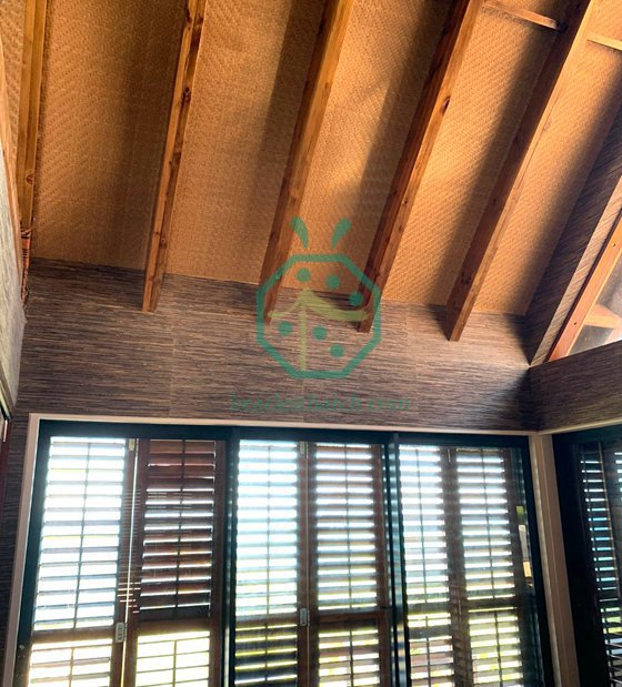 Artificial Bamboo Woven Mat For Ceiling Decoration Project in Fiji