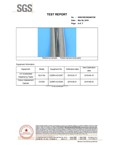 Vertical Burning and Discoloration Test Report for Thatched Roof