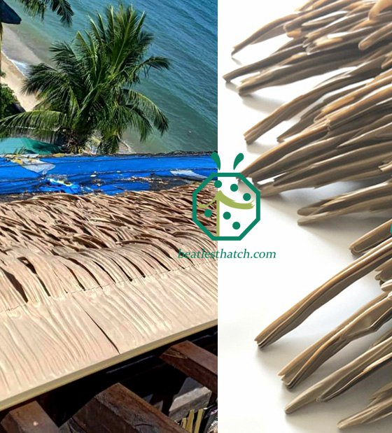 Fireproof Palm Thatch Roof For Philippines Diving Club Project